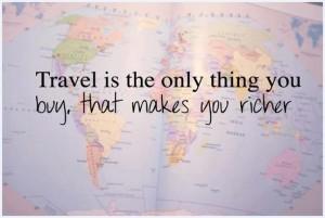 Un viaggio è l'unica cosa che compri che ti rende davvero più ricco