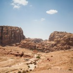 Panorama del centro di Petra