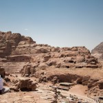 Petra, panorama delle tombe