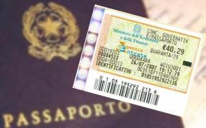 abolito bollo passaporto