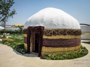 Padiglione Turkmenistan, tenda tipica